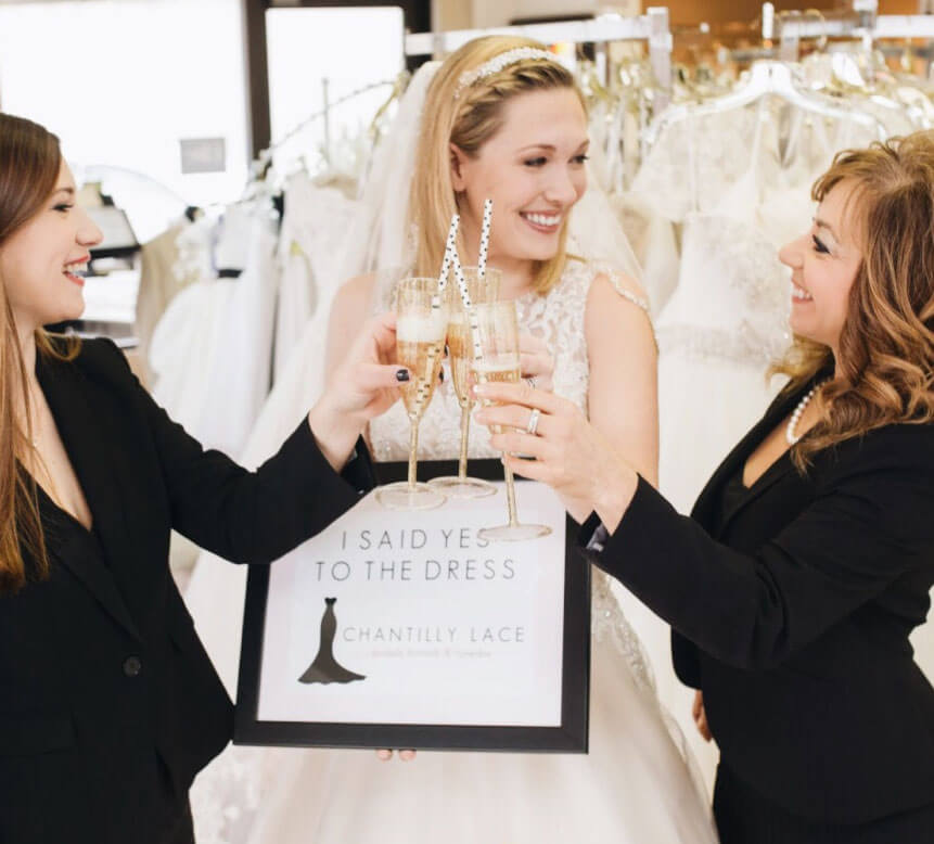 chantilly lace bridals wedding dress store owners from blacksburg virginia